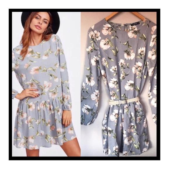 71a69d50eb8b20 SHEIN Dresses   Ruffled Hem Floral Tunic Nwt   Poshmark